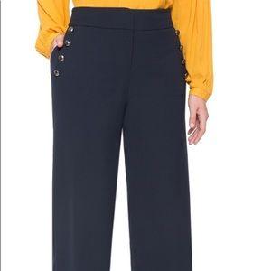 Eloquii button detailed wide leg pants.